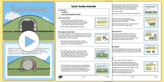 Easter Sunday Assembly Pack - Easter, Easter Story, Easter Sunday, assembly, pack