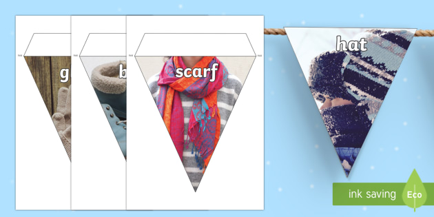 Winter Clothing Photo Display Bunting