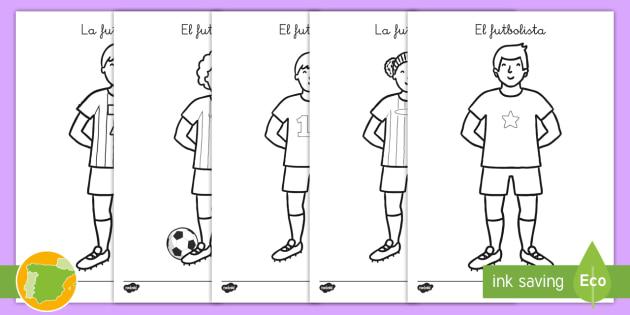 Hojas de colorear: Futbolistas - pintar, copa mundial, fútbol, deporte