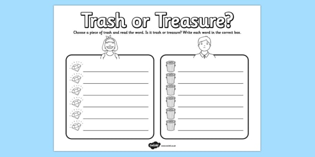 Trash Or Treasure Phonic Words For Sorting By Printplaylearn Teaching Resources Tes