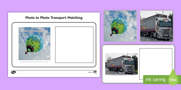 Workstation Pack: Photo to Photo Transport Matching Activity