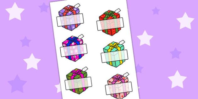 A4 Self-Registration Gift Boxes - self reg, registration, labels