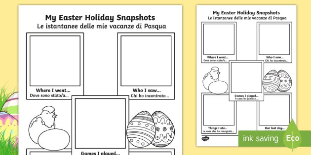 holiday essay in italian The summer holidays are the days of recreation and rest since these days come after hard work these days come after the declaration of the school result as the holidays began, i was enthused to plan for the period.