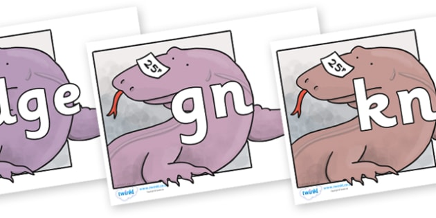 Silent Letters on Komodo Dragon to Support Teaching on The Great Pet Sale - Silent Letters, silent letter, letter blend, consonant, consonants, digraph, trigraph, A-Z letters, literacy, alphabet, letters, alternative sounds
