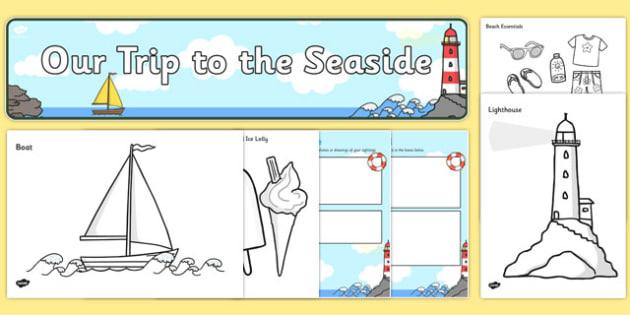 At the Seaside Trip Post-Visit Pack - seaside, trip, post-visit, pack