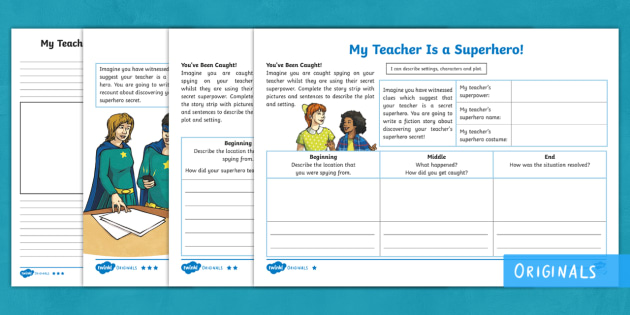 Our Teachers Are Superheroes — Writing Template