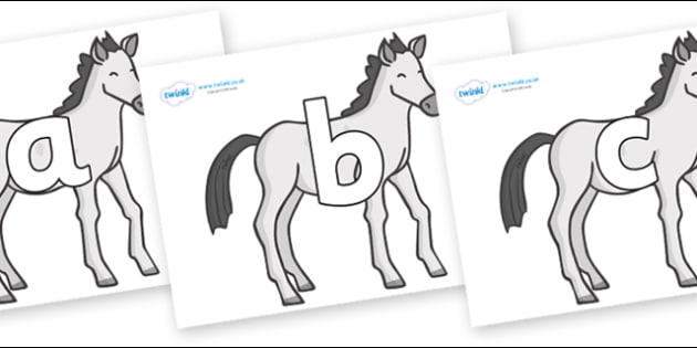 Phoneme Set on Ponies - Phoneme set, phonemes, phoneme, Letters and Sounds, DfES, display, Phase 1, Phase 2, Phase 3, Phase 5, Foundation, Literacy