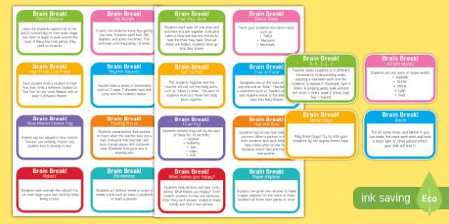 Brain Break Flashcards