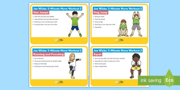 Joe Wicks: 5-Minute Move Workout 2 Cards
