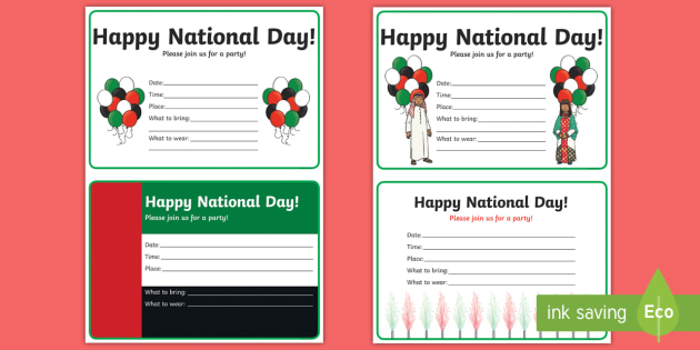 National Day Party Invitation Writing Template National