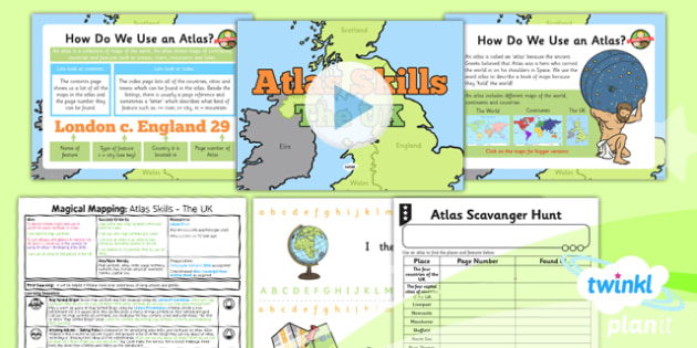 Geography: Magical Mapping: Atlas Skills The UK Year 2 Lesson Pack 3