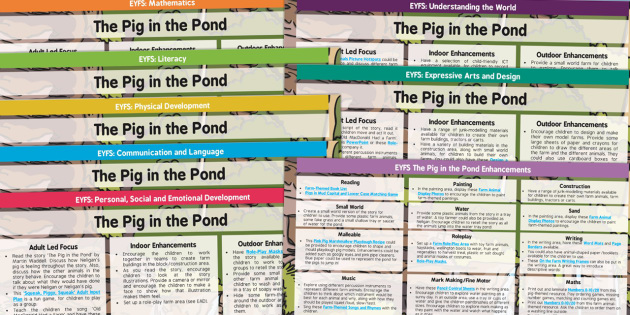 EYFS Lesson Plan and Enhancement Ideas to Support Teaching on The Pig in the Pond - planning, pig in the pond, EYFS
