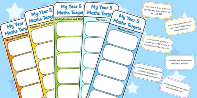 Year 5 Maths Assessment Bookmarks and Cut Outs - math, assessment