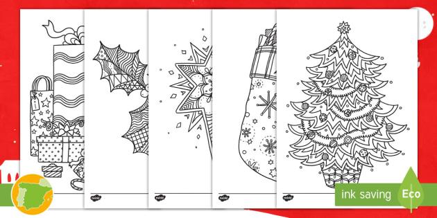 Colorear para relajarse: La Navidad - hojas de colorear, hoja de colorear, pintar, colores, motricidad fina, navidad, navideño - hojas de colorear, hoja de colorear, pintar, colores, motricidad fina, navidad, navideño