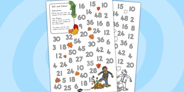 Leaves Colour and Roll Worksheet - Australia, Leaves, Colour