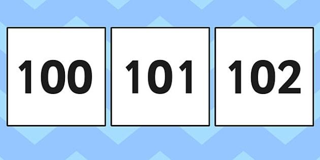 100-200 Square Number Cards - 100-200, square, number cards, cards