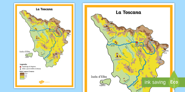 Cartina Fisica Toscana Wikipedia.La Toscana Scuola Primaria Cartina Fisica Teacher Made