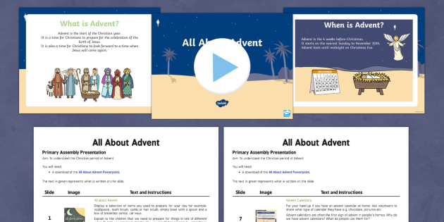 EYFS Advent Assembly Script and PowerPoint Pack - Advent, christmas, Nativity, Jesus, assembly
