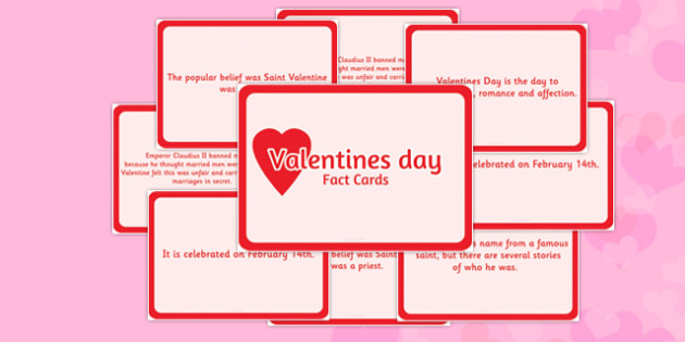 Valentine's Day Display Fact Cards - valentines day, fact, cards