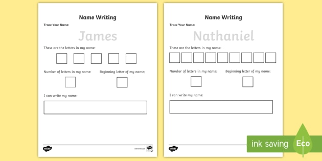 Name Tracing Worksheet Editable Activity Download Now