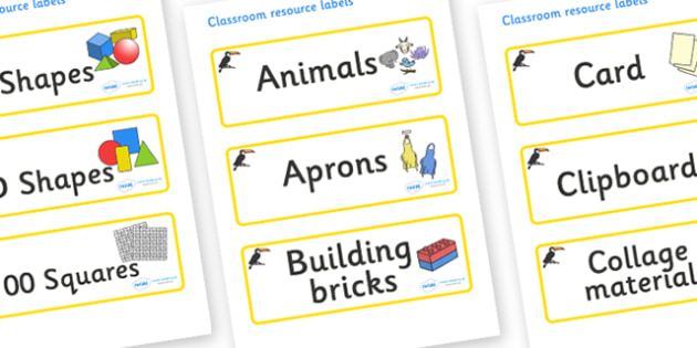 Toucan Themed Editable Classroom Resource Labels - Themed Label template, Resource Label, Name Labels, Editable Labels, Drawer Labels, KS1 Labels, Foundation Labels, Foundation Stage Labels, Teaching Labels, Resource Labels, Tray Labels, Printable la