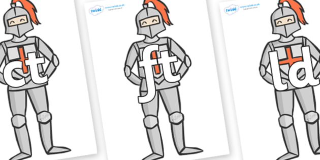 Final Letter Blends on Knights - Final Letters, final letter, letter blend, letter blends, consonant, consonants, digraph, trigraph, literacy, alphabet, letters, foundation stage literacy