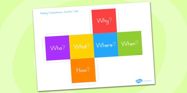 Comprehension Question Cube - australia, comprehension, cube