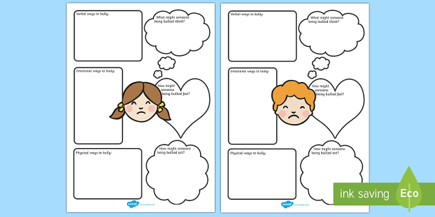 Bullying - Worksheets - Twinkl