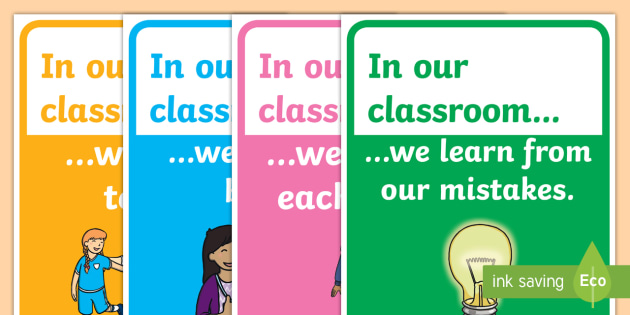 In Our Classroom Posters - display, in our classroom