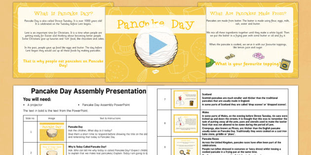 Pancake Day Assembly Pack - Pancake Day, Shrove Tuesday, Assembly, pack, assembly pack