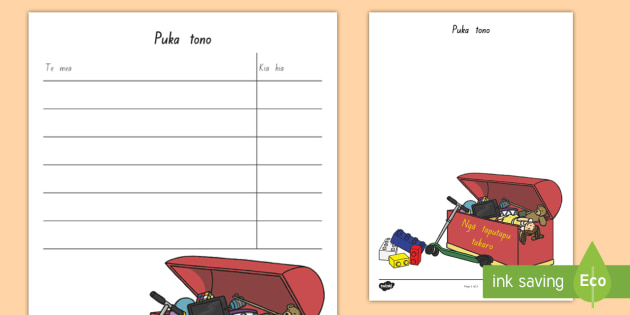Toy Shop Role Play Order Forms Te Reo Māori Toy Shop Te Reo