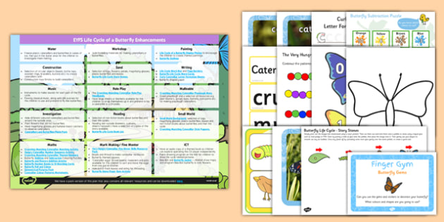 EYFS Life Cycle of a Butterfly Enhancement Ideas Resources Pack - planning