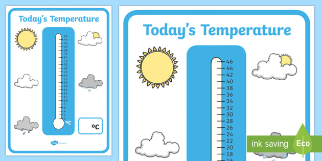 todays temperature thermometer display posters temperature. Black Bedroom Furniture Sets. Home Design Ideas