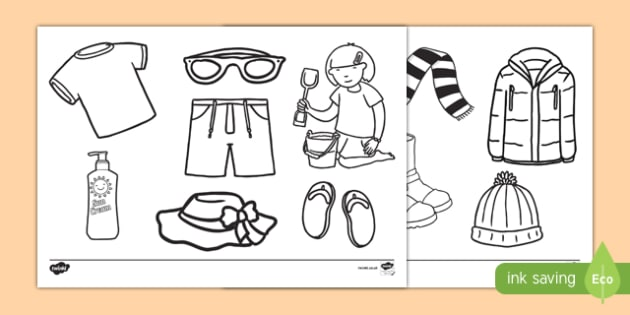Clothes Colouring Pages - clothes, colour, colouring, activity, pages, clothing, wear