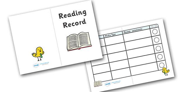 Reading Record Booklet (Different Media) - Reading record, record book, other media, reading booklet, reading, literacy, read, parent, reading books