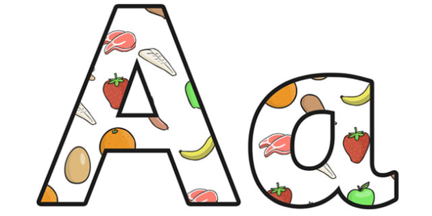 Nutrition Lowercase Display Lettering - nutrition, nutrition display lettering, nutrition display letters, nutrition alphabet lettering, nutrition a-z