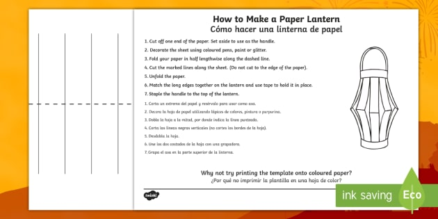 How To Make A Paper Lantern Craft Instruction Sheets
