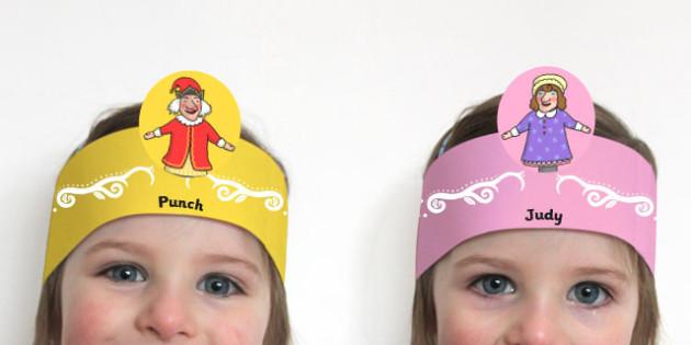 Punch and Judy Role Play Headband - role, play, headband, punch