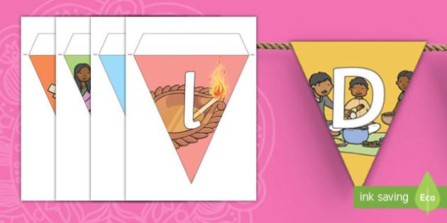 Diwali Title Display Bunting