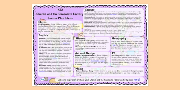 Charlie And The Chocolate Factory Lesson Plans Year