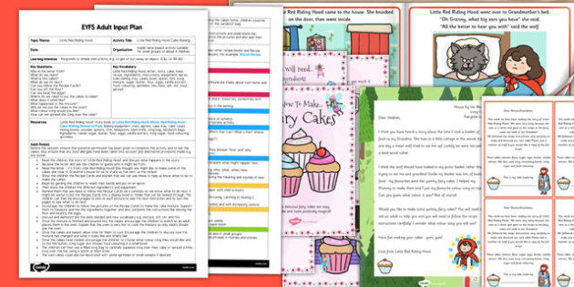 Little Red Riding Hood Cake Making Activity EYFS Adult Input Plan and Resource Pack