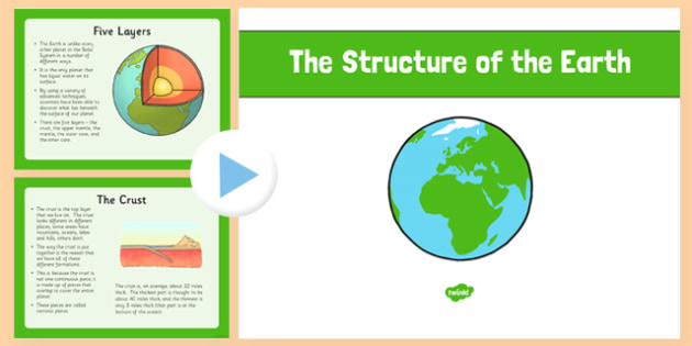 The Structure of the Earth PowerPoint structure of the earth – Earth Structure Worksheet