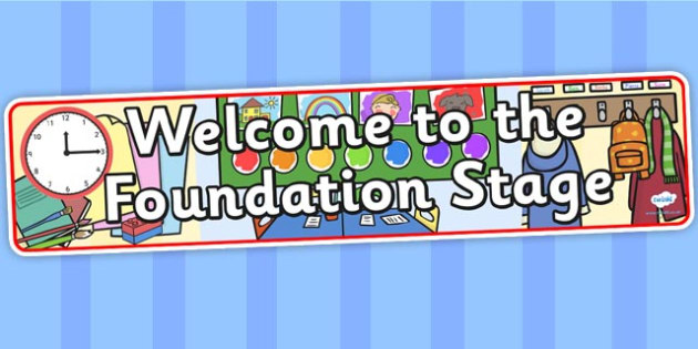 Foundation Stage / EYFS Welcome Banner - Welcome classroom sign, welcome, welcome sign, door sign, class sign, KS1 sign, class door sign