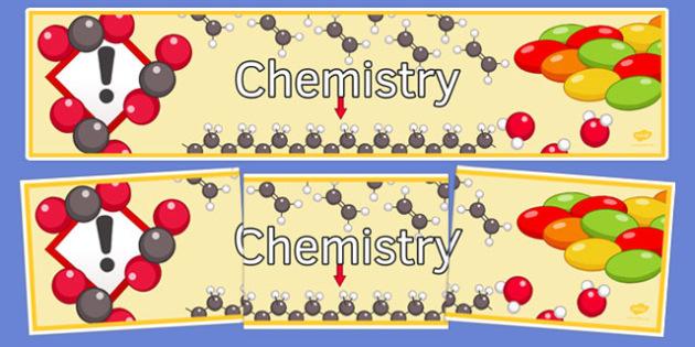 KS3 Chemistry Display Banner - ks3, chemistry, display banner, display, banner