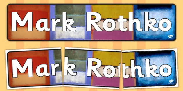 Mark Rothko Display Banner - mark, rothko, display banner, banner