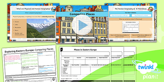 Geography: Exploring Eastern Europe: Comparing Places Year 5 Lesson Pack 4