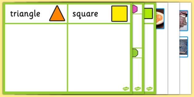 2d shape sorting activity 2d shape sorting activity sort. Black Bedroom Furniture Sets. Home Design Ideas