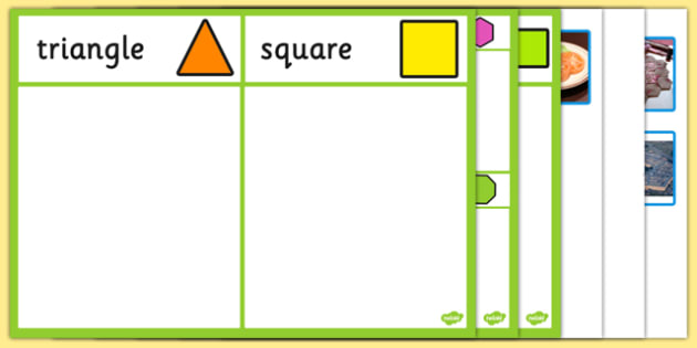2D Shape Sorting Activity - 2d, shape, sorting, activity, sort