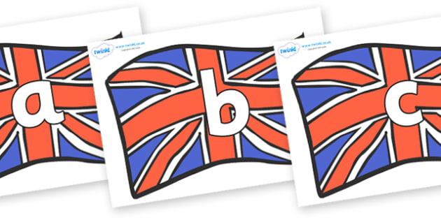 Phoneme Set on British Flags - Phoneme set, phonemes, phoneme, Letters and Sounds, DfES, display, Phase 1, Phase 2, Phase 3, Phase 5, Foundation, Literacy