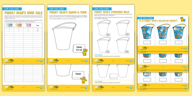 FREE! - UKS2 BBC Children in Need Maths Differentiated Worksheets